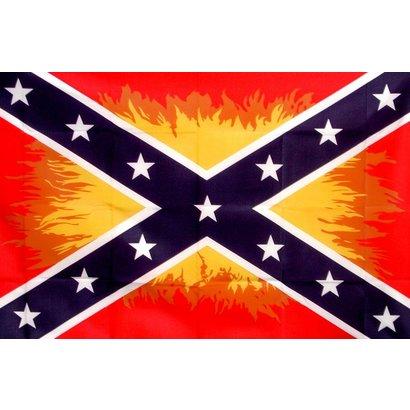 Vlag Confederate Flames Vlammen vlag