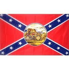 Vlag Confederate Ghost Rider