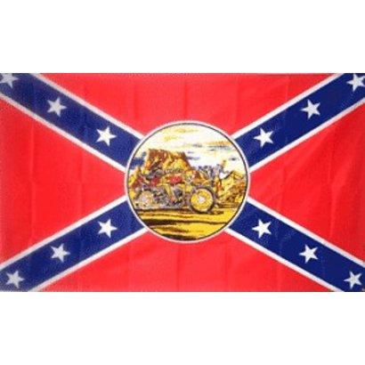 Vlag Confederate Ghost Rider vlag