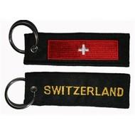 Sleutelhanger / Keyring Zwitserland vlag sleutelhanger