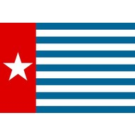 Bootvlag Morning Star boat West Papua flag