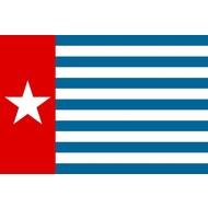 Bootvlag Morning Star boat West Papua flag