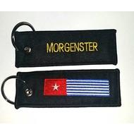Sleutelhanger / Keyring Morning star flag keyring