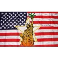 Vlag USA Marihuana Hasj Hash Liberty flag