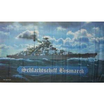 Vlag Bismarck battleship flag