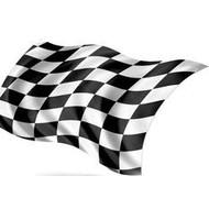 Vlag Geblokte Zwart Wit F1 Finish