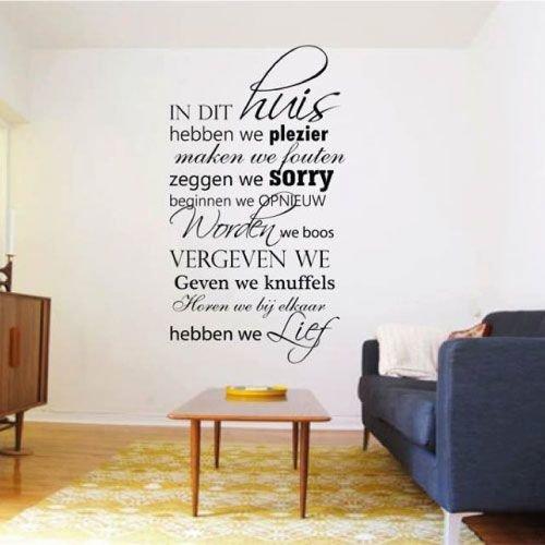 Nederlandse teksten muurstickers