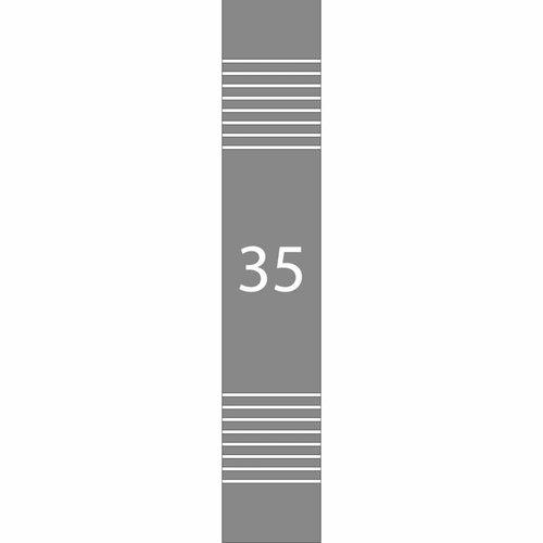 Raamfolie Huisnummer met strepen