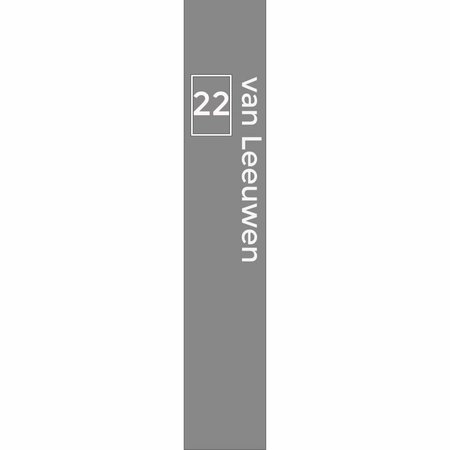 Raamfolie Huisnummer in kader en familienaam