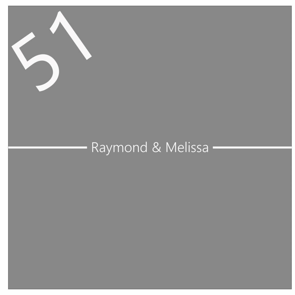 Raamfolie met voornamen en huisnummer