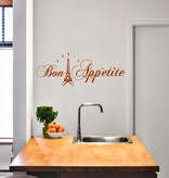 Muursticker Bon Appetite (eiffeltoren)