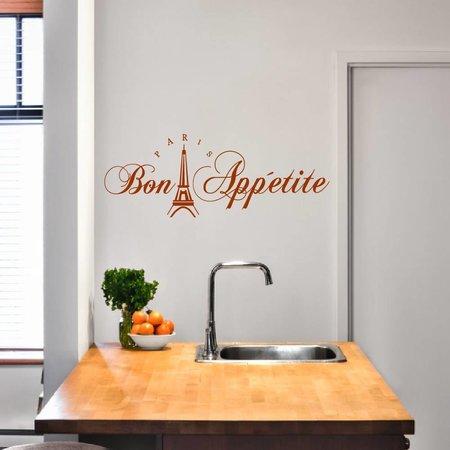 Muursticker Bon Appetite eiffeltoren | Keuken | Muurtekst | Koken | Eet smakelijk