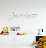 Muursticker Bon appetite | Keuken | Muurtekst | Franstalig | Eet smakelijk