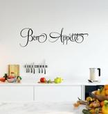 Muursticker Bon appetit | Keuken | Muurtekst | Franstalig | Eet smakelijk