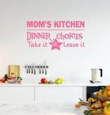 Muursticker Mom's Kitchen