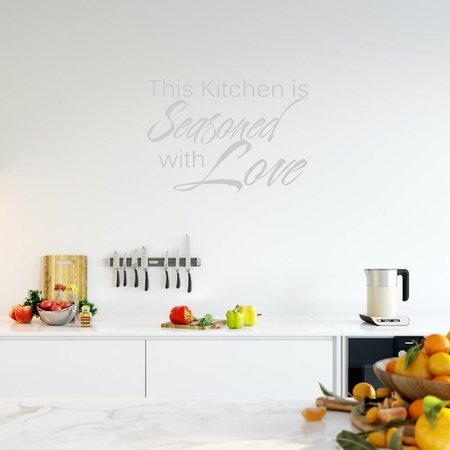 Muursticker This kitchen is seasoned with love
