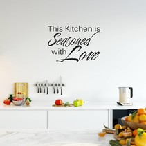 Muursticker This kitchen is seasoned with love