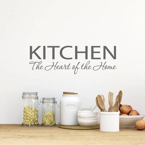 Muursticker Kitchen the heart of the home