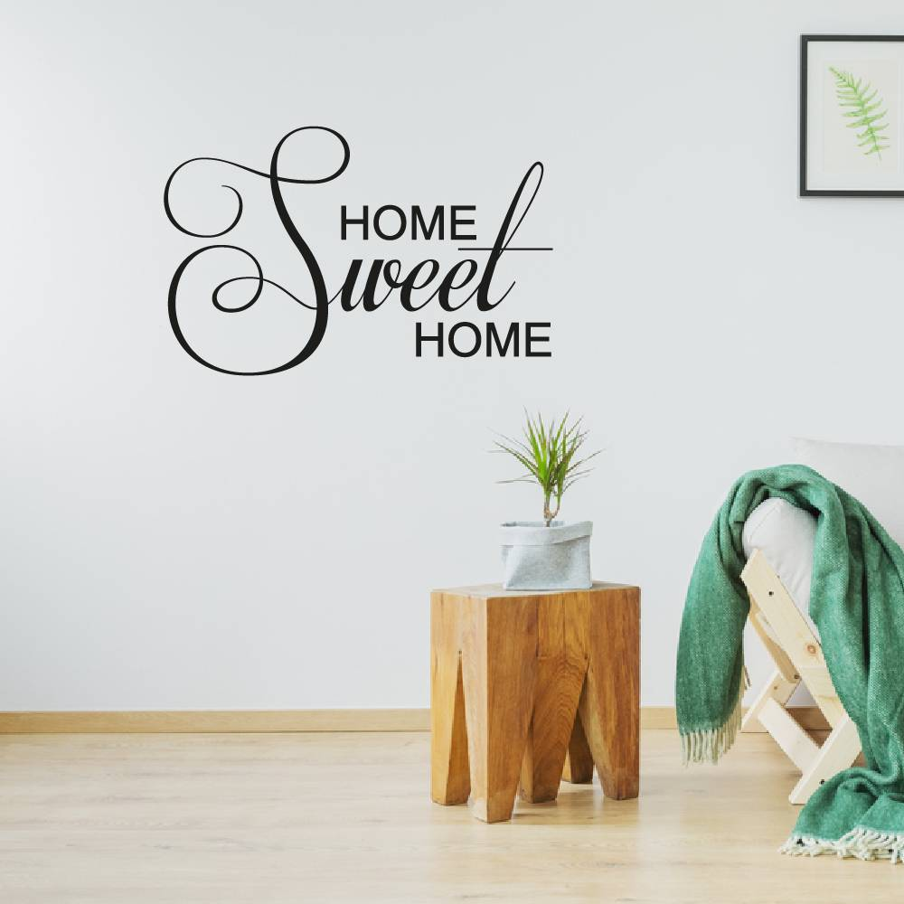 Muursticker Home Sweet Home.Muursticker Met De Tekst Home Sweet Home Muursticker4sale