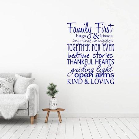 Muursticker Family first