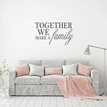 Muursticker Together we make a family