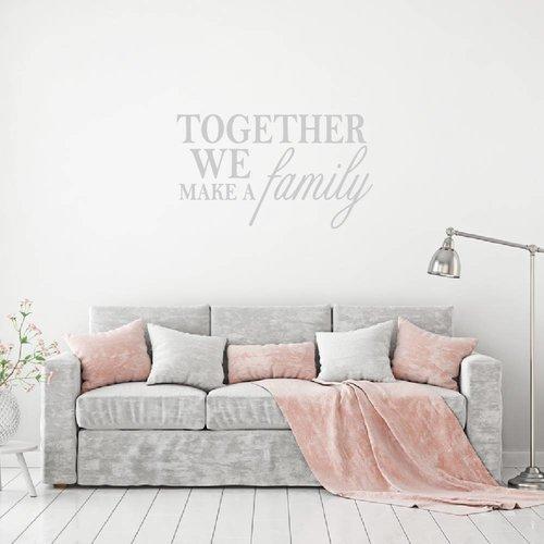 Muursticker Together we make a family