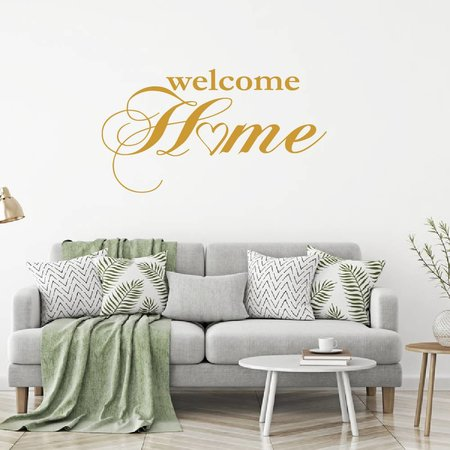 Muursticker Welcome home met hartje