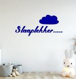 Muursticker slaaplekker met wolk