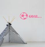 Muursticker Goal met bal