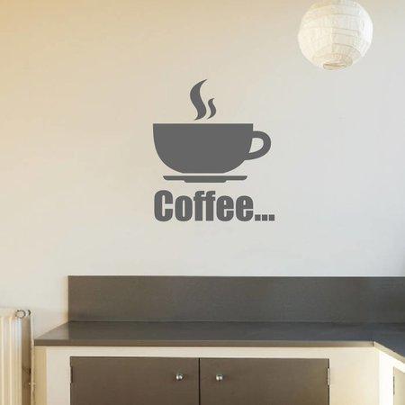 Muursticker Coffee