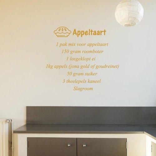 Muursticker Appeltaart recept