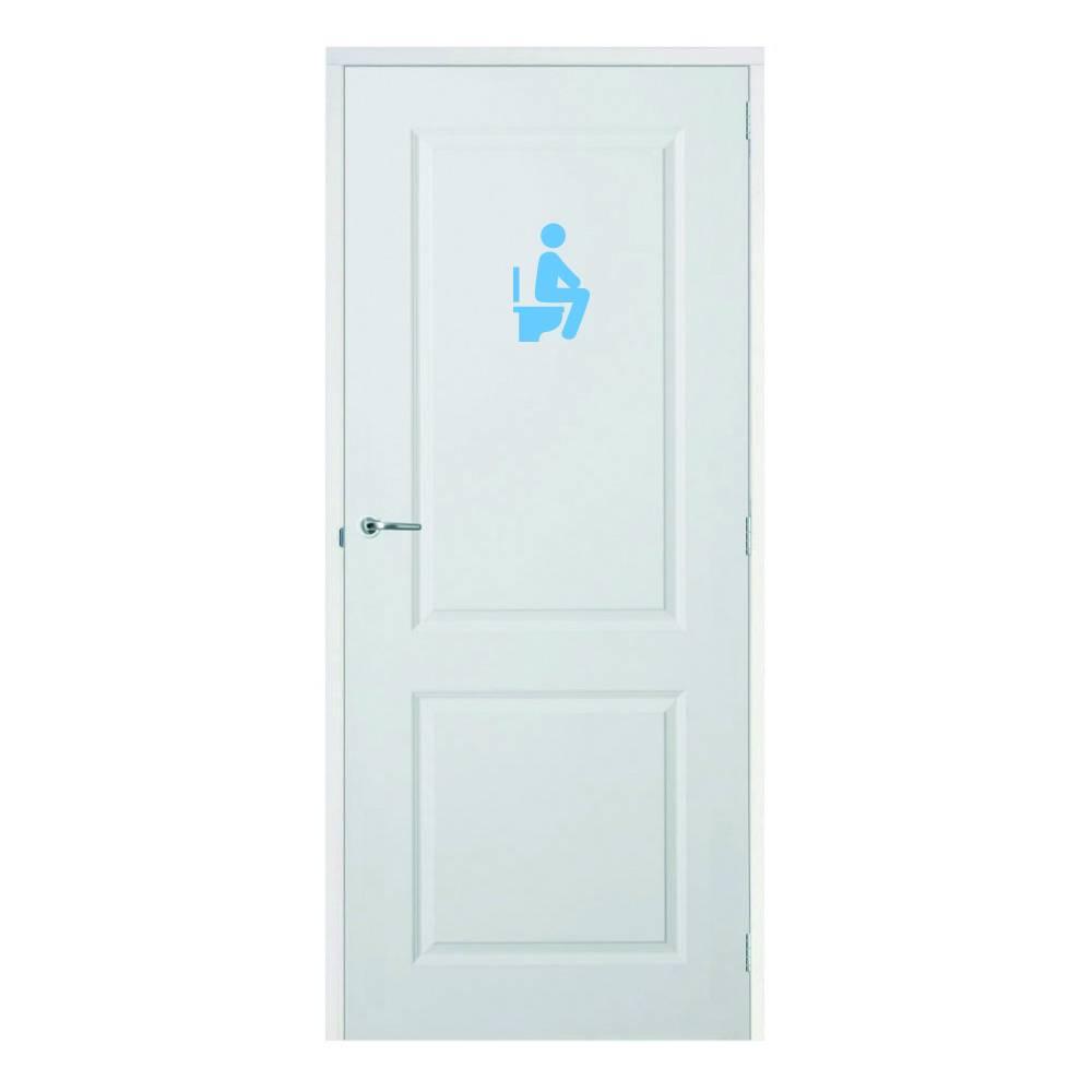 Deursticker Man op Wc -  toilet raam en deur stickers - toilet