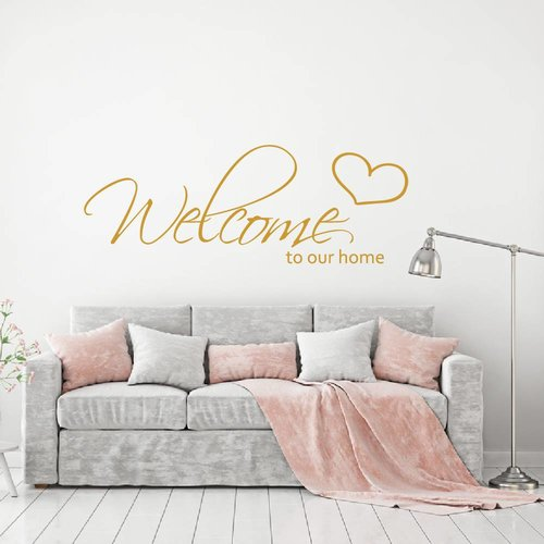 Muursticker welcome to our home