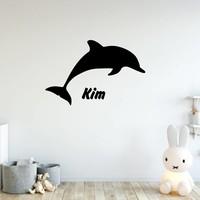 Muursticker dolfijn met naam