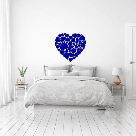 Muursticker hart in hartjes