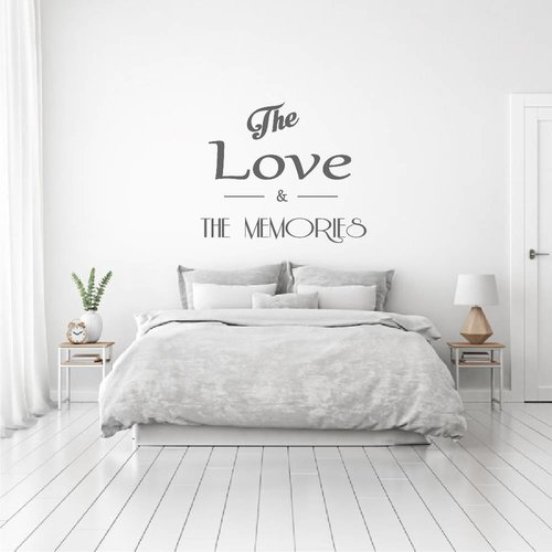 Muursticker The love & the memories