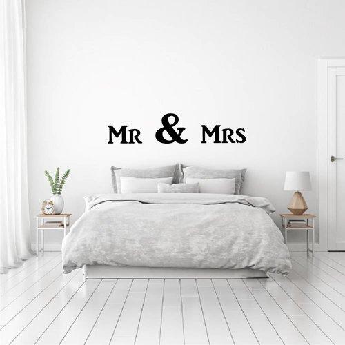Muursticker Mr & Mrs