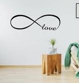Muursticker Infinity love