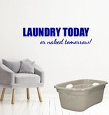 Laundry today or naked tomorrow!