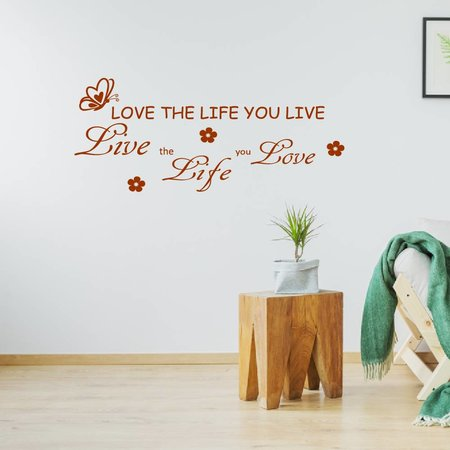 Muursticker love the life you live
