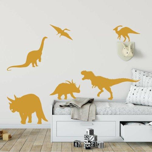 Muursticker diverse dinosaurus