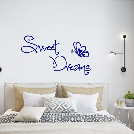 Muursticker sweet dreams met vlinder