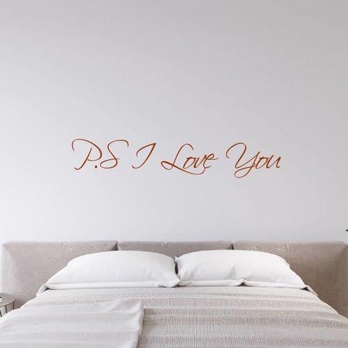 Muursticker P.S I Love You