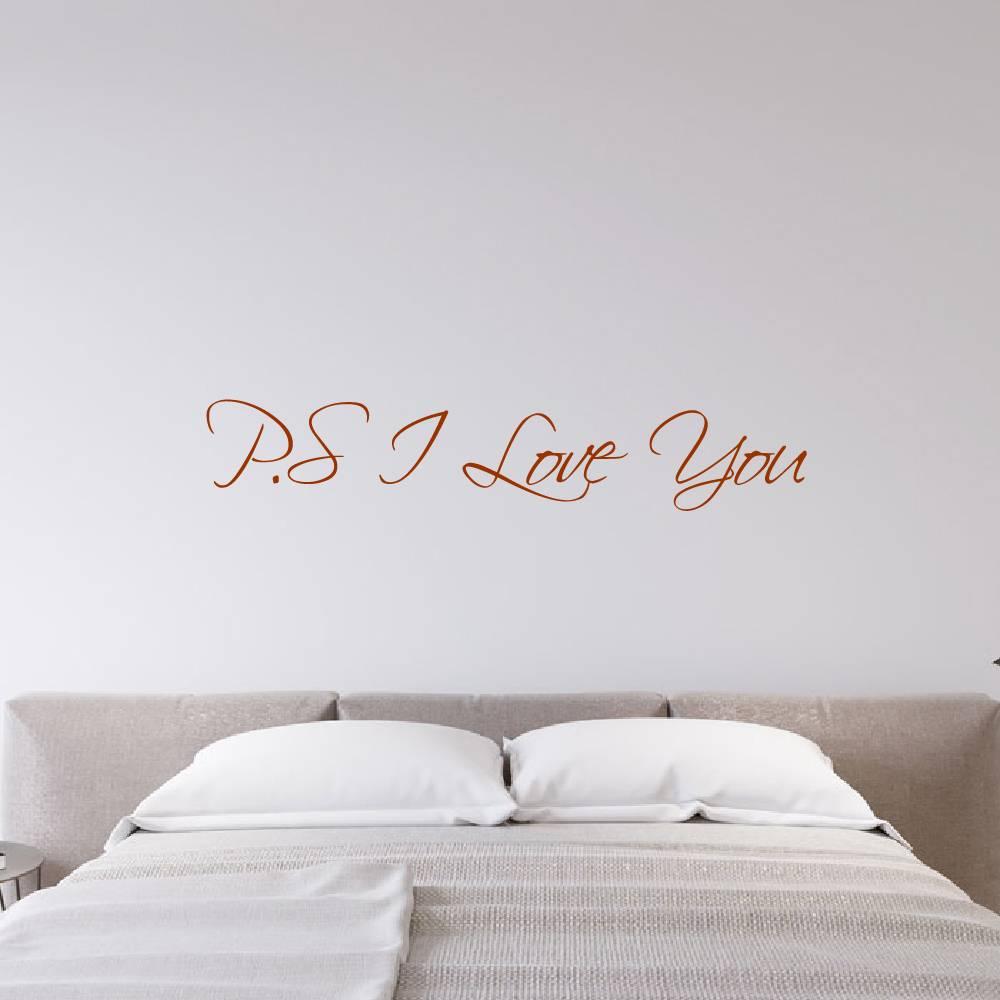 Muurstickers Slaapkamer Love.Muursticker P S I Love You Muursticker4sale