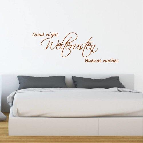 Muursticker welterusten good night buenas noches