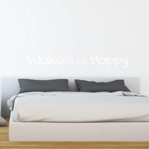 Muursticker Wake up & be Happy