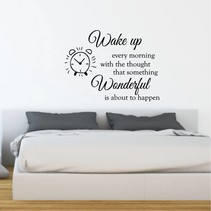 Muursticker Wake up wonderful