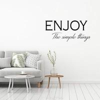 Muursticker Enjoy the simple things