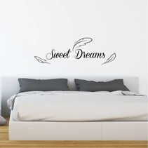 Muursticker Sweet Dreams met veren