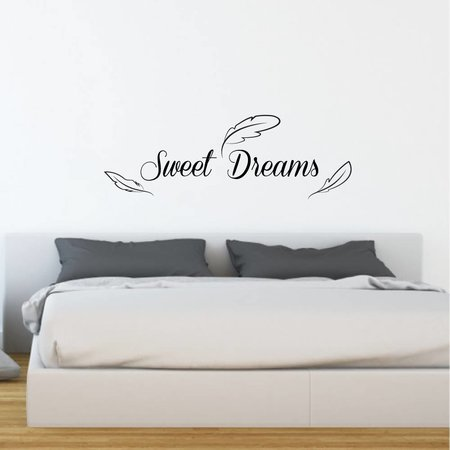 Muursticker Sweet Dreams met veren